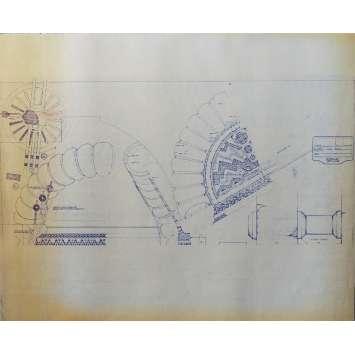 DUNE Blueprint - Arakeen No:NA/NA - 45x55/60 cm. - 1982, David Lynch