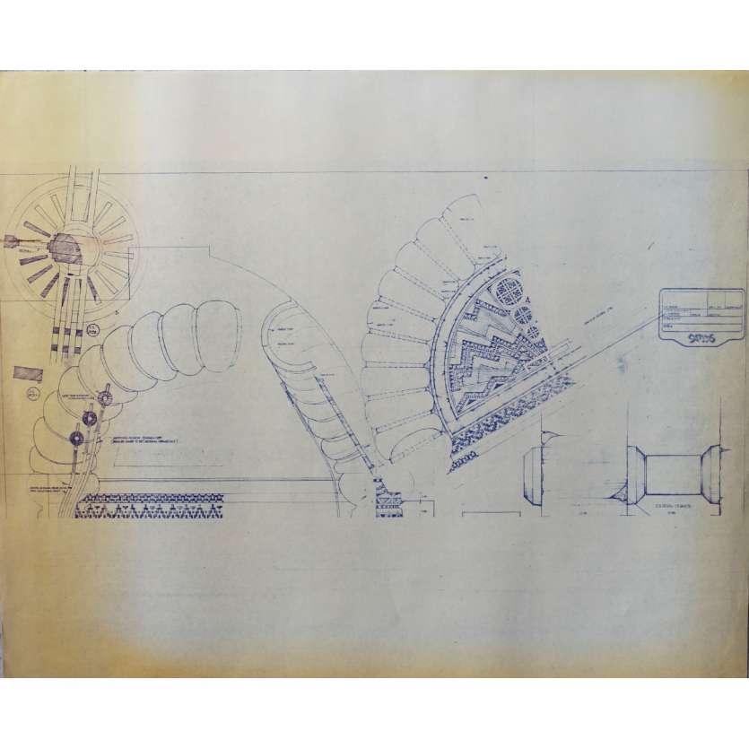 DUNE Original Blueprint - Arakeen No:NA/NA - 21x24-26 in. - 1982, David Lynch