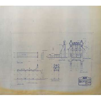 DUNE Blueprint - Caladan No:Ext33/1 - 45x55/60 cm. - 1982, David Lynch