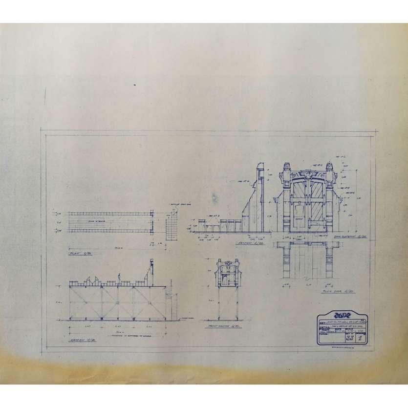 DUNE Original Blueprint - Caladan No:Ext33/1 - 21x24-26 in. - 1982, David Lynch
