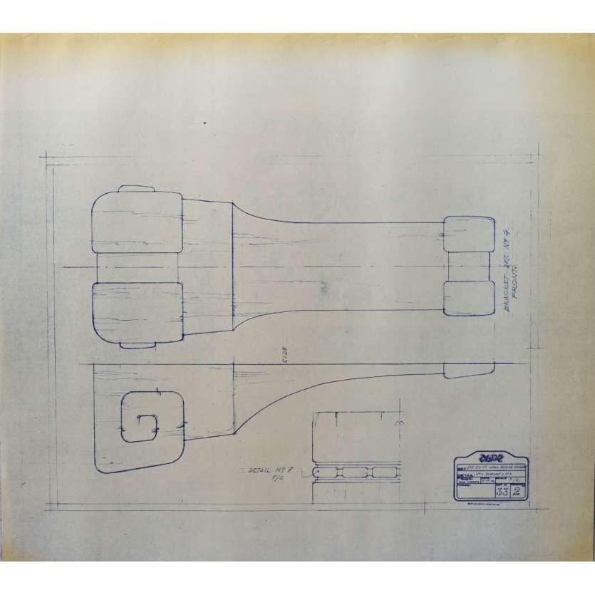 DUNE Original Blueprint - Caladan No:Ext33/2 - 21x24-26 in. - 1982, David Lynch