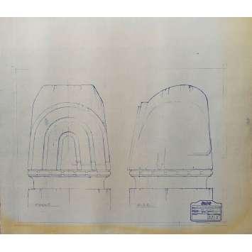 DUNE Original Blueprint - Caladan No:Ext33/3 - 21x24-26 in. - 1982, David Lynch