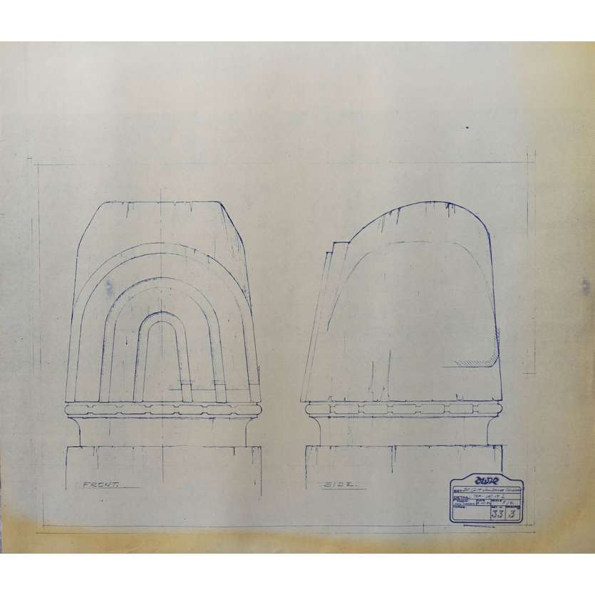 DUNE Blueprint - Caladan No:Ext33/3 - 45x55/60 cm. - 1982, David Lynch