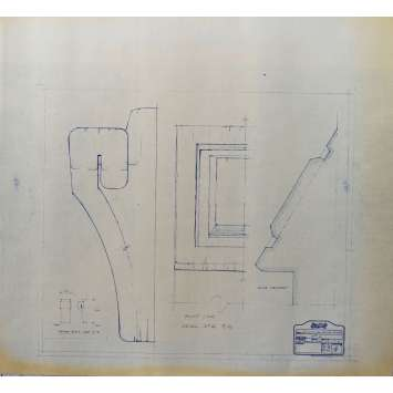 DUNE Blueprint - Caladan No:Ext33/4 - 45x55/60 cm. - 1982, David Lynch