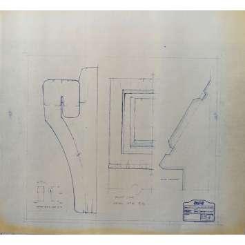 DUNE Original Blueprint - Caladan No:Ext33/4 - 21x24-26 in. - 1982, David Lynch