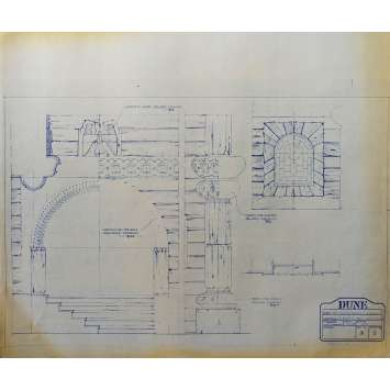 DUNE Original Blueprint - Caladan No:Ext/5/2 - 21x24-26 in. - 1982, David Lynch