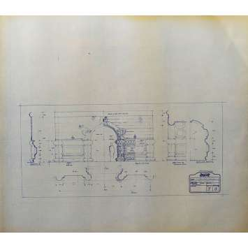 DUNE Original Blueprint - Caladan No:Ext/7/9 - 21x24-26 in. - 1982, David Lynch