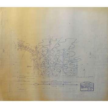 DUNE Original Blueprint - Caladan No:Ext/M11/9 - 21x24-26 in. - 1982, David Lynch