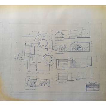 DUNE Original Blueprint - Sietch Tabr No:22/1 - 21x24-26 in. - 1982, David Lynch
