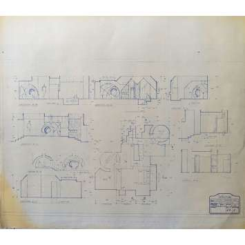 DUNE Original Blueprint - Sietch Tabr No:23/1 - 21x24-26 in. - 1982, David Lynch
