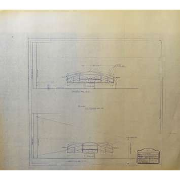 DUNE Original Blueprint - Sietch Tabr No:48/3 - 21x24-26 in. - 1982, David Lynch
