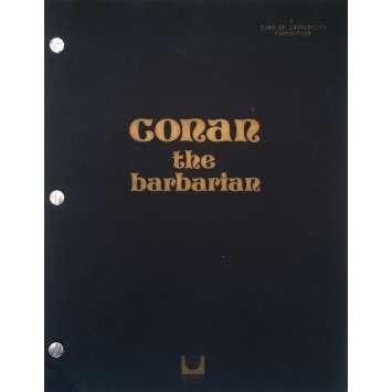 CONAN LE BARBARE Scénario - 21x30 cm. - 1982 - Arnold Schwarzenegger, John Milius