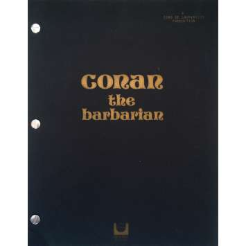CONAN THE BARBARIAN Original Movie Script - 9x12 in. - 1982 - Arnold Schwarzenegger , John Milius