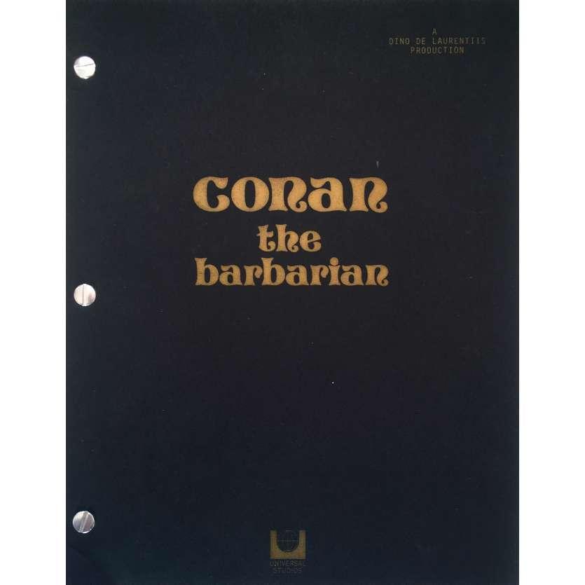 CONAN THE BARBARIAN Original Movie Script - 9x12 in. - 1982 - Arnold Schwarzenegger , John Milius