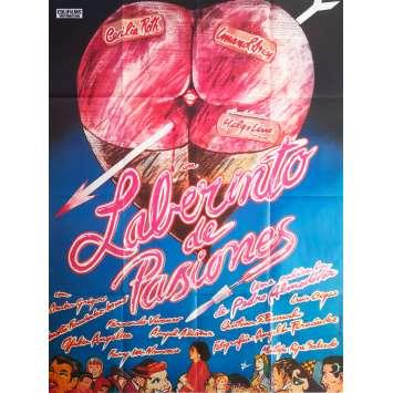 LABYRINTH OF PASSION Original Movie Poster - 47x63 in. - 1982 - Pedro Almodovar, Cecilia Roth
