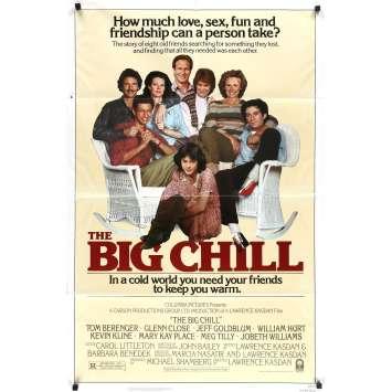 THE BIG CHILL Original Movie Poster - 27x40 in. - 1983 - Lawrence Kasdan, Tom Berenger, Glenn Close, Jeff Goldblum