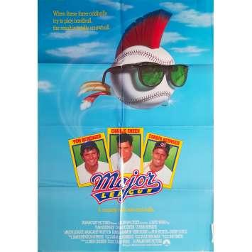 MAJOR LEAGUE Original Movie Poster - 27x40 in. - 1989 - David S. Ward , Tom Berenger, Charlie Sheen
