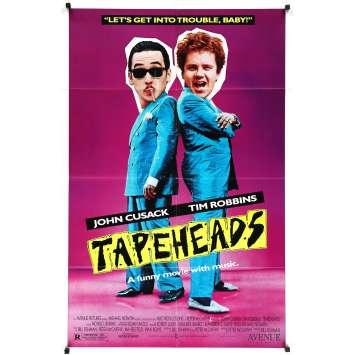 TAPEHEADS Original Movie Poster - 27x40 in. - 1988 - Bill Fishman, John Cusack, Tim Robbins