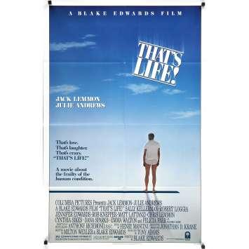 THAT'S LIFE! Original Movie Poster - 27x40 in. - 1986 - Blake Edwards, Jack Lemmon, Julie Andrews