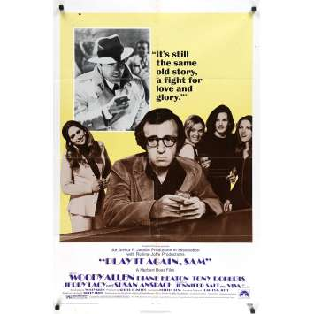 PLAY IT AGAIN SAM Original Movie Poster - 27x40 in. - 1972 - Herbert Ross, Woody Allen