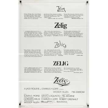 ZELIG Affiche de film - 69x102 cm. - 1983 - Mia Farrow, Woody Allen