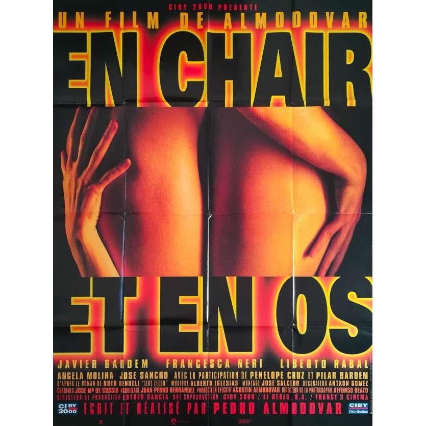 EN CHAIR ET EN OS Affiche de film - 120x160 cm. - 1997 - Liberto Rabal, Pedro Almodovar