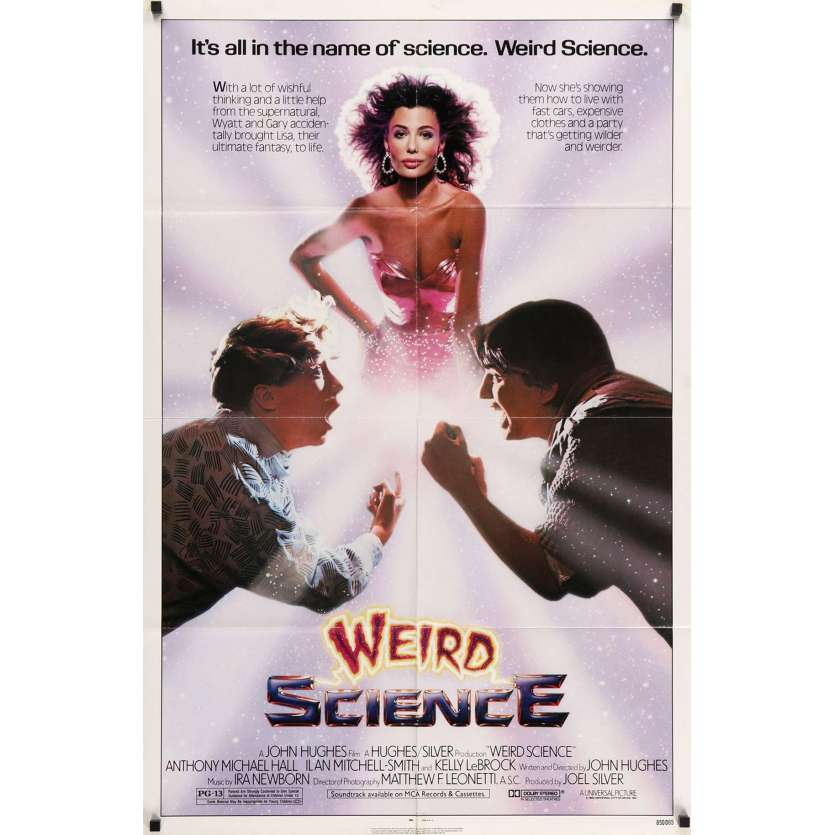 WEIRD SCIENCE US Movie Poster 29x40 - 1985 - John Hugues, Anthony Michael Hall