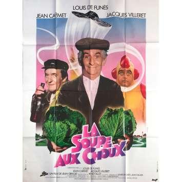 LA SOUPE AUX CHOUX Affiche de film - 120x160 cm. - 1981 - Louis de Funès, Jean Girault