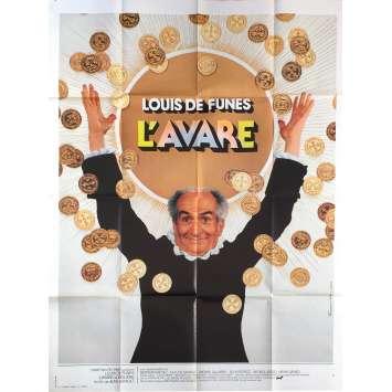 L'AVARE Affiche de film - 120x160 cm. - 1980 - Louis de Funes, Jean Girault