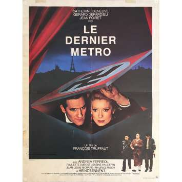 LE DERNIER METRO Affiche de film - 40x60 cm. - 1980 - Catherine Deneuve, François Truffaut