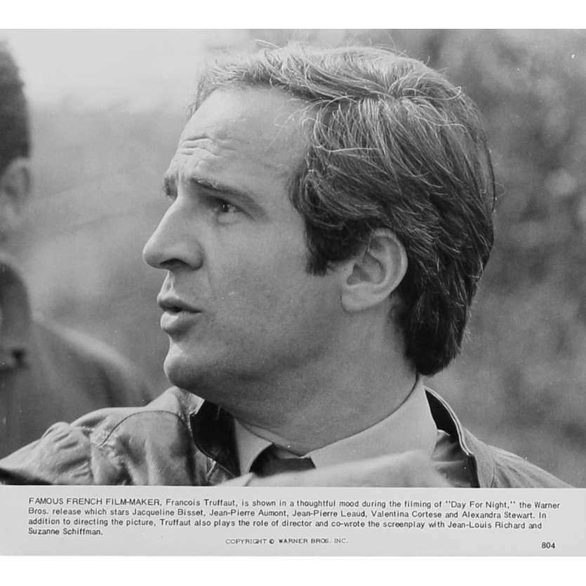 LA NUIT AMERICAINE Photo de presse N804 - 20x25 cm. - 1973 - Jacqueline Bisset, François Truffaut