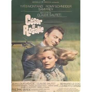 CESAR ET ROSALIE Affiche de film - 120x160 cm. - 1972 - Yves Montand, Claude Sautet