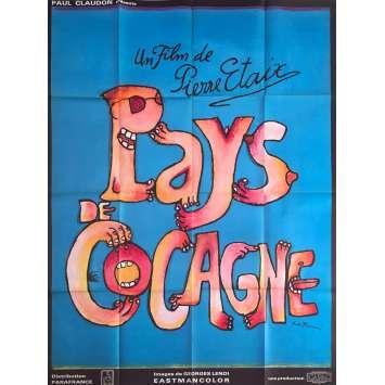 PAYS DE COCAGNE Affiche de film - 120x160 cm. - 1971 - Maurice Biraud, Pierre Étaix
