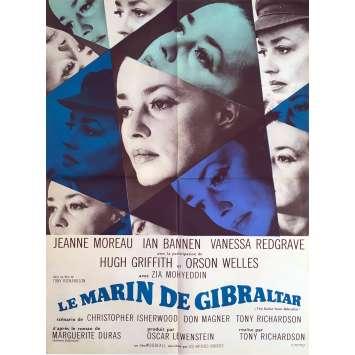 LE MARIN DE GIBRALTAR Affiche de film - 60x80 cm. - 1967 - Jeanne Moreau, Tony Richardson