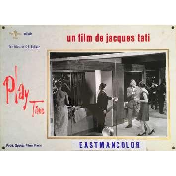 PLAYTIME Original Lobby Card N01 - 14x18 in. - 1967 - Jacques Tati, Rita Maiden