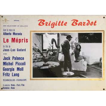 CONTEMPT Original Lobby Card N05 - 14x18 in. - 1963 - Jean-Luc Godard, Brigitte Bardot
