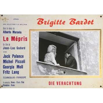 CONTEMPT Original Lobby Card N04 - 14x18 in. - 1963 - Jean-Luc Godard, Brigitte Bardot