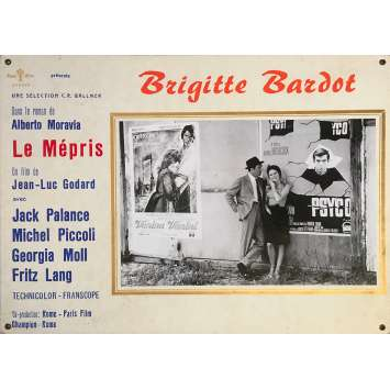 CONTEMPT Original Lobby Card N03 - 14x18 in. - 1963 - Jean-Luc Godard, Brigitte Bardot