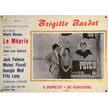 CONTEMPT Original Lobby Card N02 - 14x18 in. - 1963 - Jean-Luc Godard, Brigitte Bardot