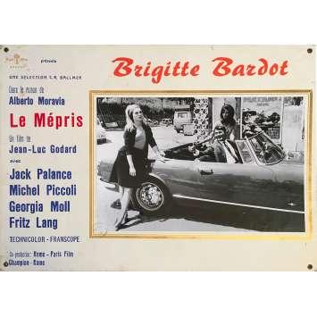 CONTEMPT Original Lobby Card N01 - 14x18 in. - 1963 - Jean-Luc Godard, Brigitte Bardot