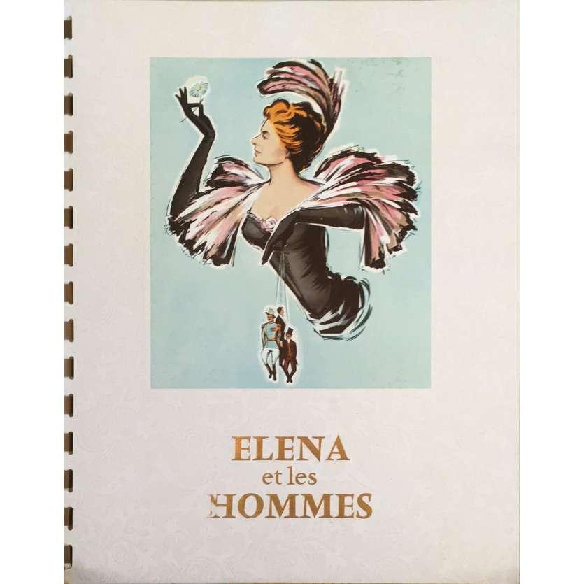 ELENA ET LES HOMMES Dossier de presse - 20x25 cm. - 1956 - Ingrid Bergman, Jean Marais, Jean Renoir