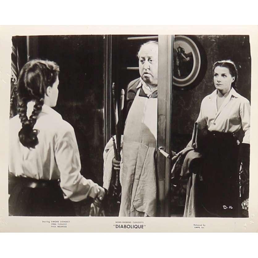 LES DIABOLIQUES Photo de presse D-16 - 20x25 cm. - 1955 - Sharon Stone, Henri-Georges Clouzot