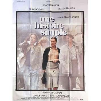 UNE HISTOIRE SIMPLE Affiche de film - 120x160 cm. - 1978 - Romy Schneider, Claude Sautet