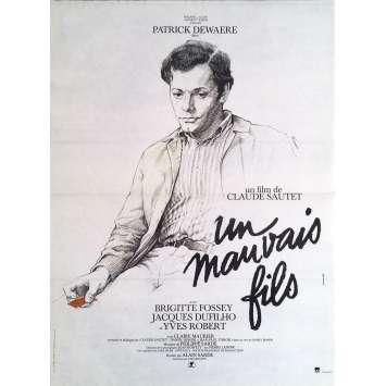 UN MAUVAIS FILS Affiche de film - 40x60 cm. - 1980 - Patrick Dewaere, Claude Sautet