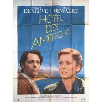 HOTEL DES AMERIQUES Affiche de film - 120x160 cm. - 1981 - Catherine Deneuve, André Téchiné