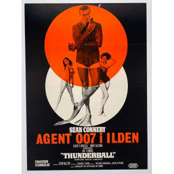 OPERATION TONNERRE Affiche de film - 62x85 cm. - R1960's - Sean Connery, James Bond