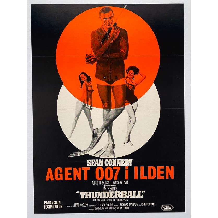 THUNDERBALL Original Movie Poster - 24x33 in. - R1960's - James Bond, Sean Connery