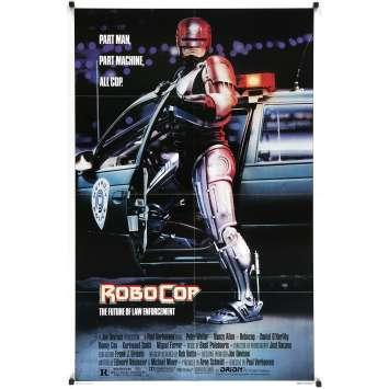 ROBOCOP Original Movie Poster - 27x40 in. - 1986 - Paul Verhoeven, Nancy Allen