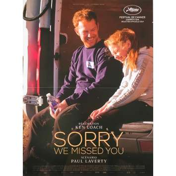 SORRY WE MISSED YOU Original Movie Poster - 15x21 in. - 2019 - Ken Loach, Kris Hitchen