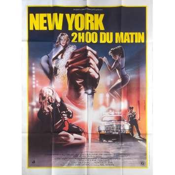NEW YORK 2 HEURES DU MATIN Affiche de film - 120x160 cm. - 1984 - Les Nuls, Abel Ferrara